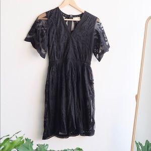 New Altar'd State Black Lace Dress